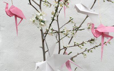 Japansk forårsstemning og pastelfarver.